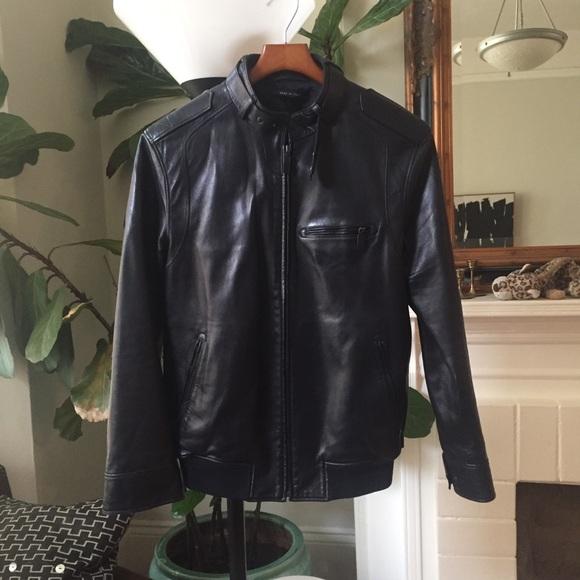 8488a0b24 Gucci Jackets & Coats | Black Smooth Leather Bomber Jacket | Poshmark